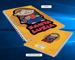 Caderno Santa Luzia desenho