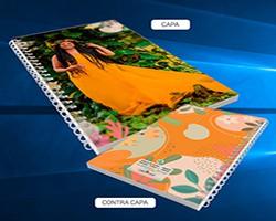 Caderno Menina no Vestido Laranja